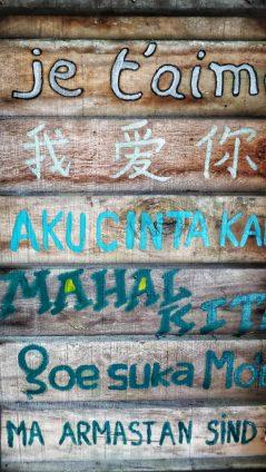 Geschrift van verschillende talen