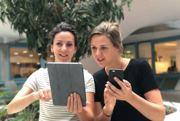 Solange en Marissa van team Hersenonderzoek.nl